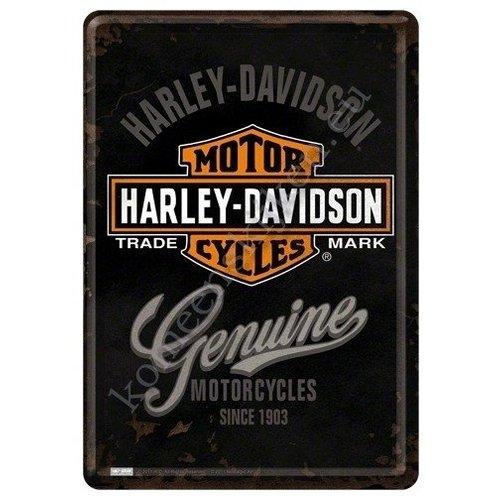 nostalgic art Harley Davidson Metalen Postcard 10 x 14 cm