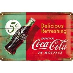 Wandbord - Coca-Cola Delicious - 20x30cm