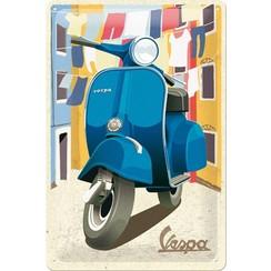 Wandbord - Vespa Italian Laundry -20x30cm-
