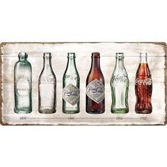 Nostalgic Art Metalen bord Coca-Cola Timeline