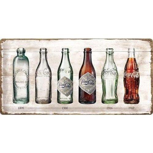 Nostalgic Art Merchandising Nostalgic Art Metalen bord Coca-Cola Timeline