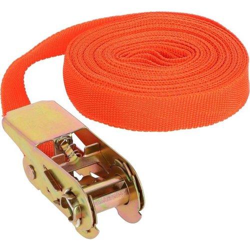 benson Benson Oranje Spanband met Ratel – 7.5 meter