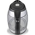 Ekeo EKEO - Glazen Waterkoker - Instelbare temperatuur- LED - 2200W - BPA vrij - Zwart