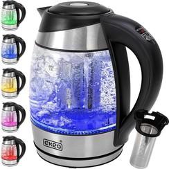 EKEO - Glazen Waterkoker - Instelbare temperatuur- LED - 2200W - BPA vrij - Zwart