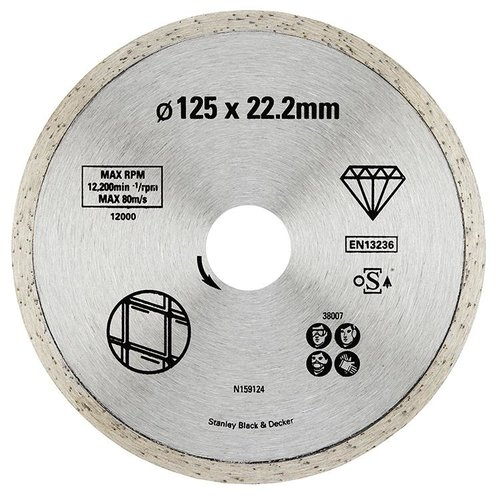 Piranha Diamantblad volle rand, 125mm. - nr. 2 HI-TECH X38007