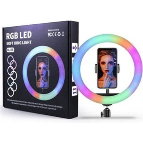 Led ring light 8 inch (20cm) met RGB led verstelbaar statief - studio ring lamp
