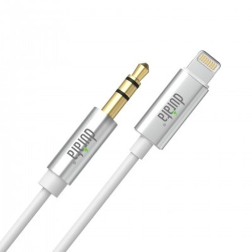 durata Durata Audio Kabel - Apple Lightning naar Aux 3.5mm Jack (Wit) (1m)