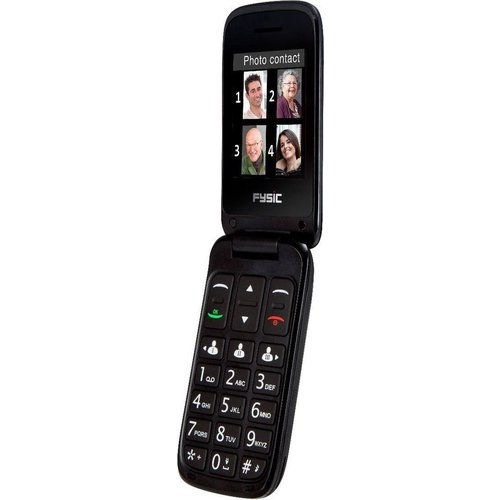 fysic Fysic FM-9760ZT Mobiele klaptelefoon - Geschikt voor hoortoestellen (M3/T4) - Zwart