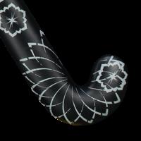 Low Bow Hockeystick - Crown Pro - Black Silver