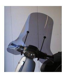 Vespa Sprint smoke windscherm hoog model inclusief zwarte bevestingsbeugels