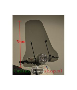 Vespa LX Smoke hoog model windscherm getint