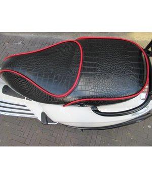 Croco mat black zadel voor Primavera en Sprint