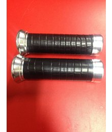 Zwart lederen Custom made handvatten voor Vespa