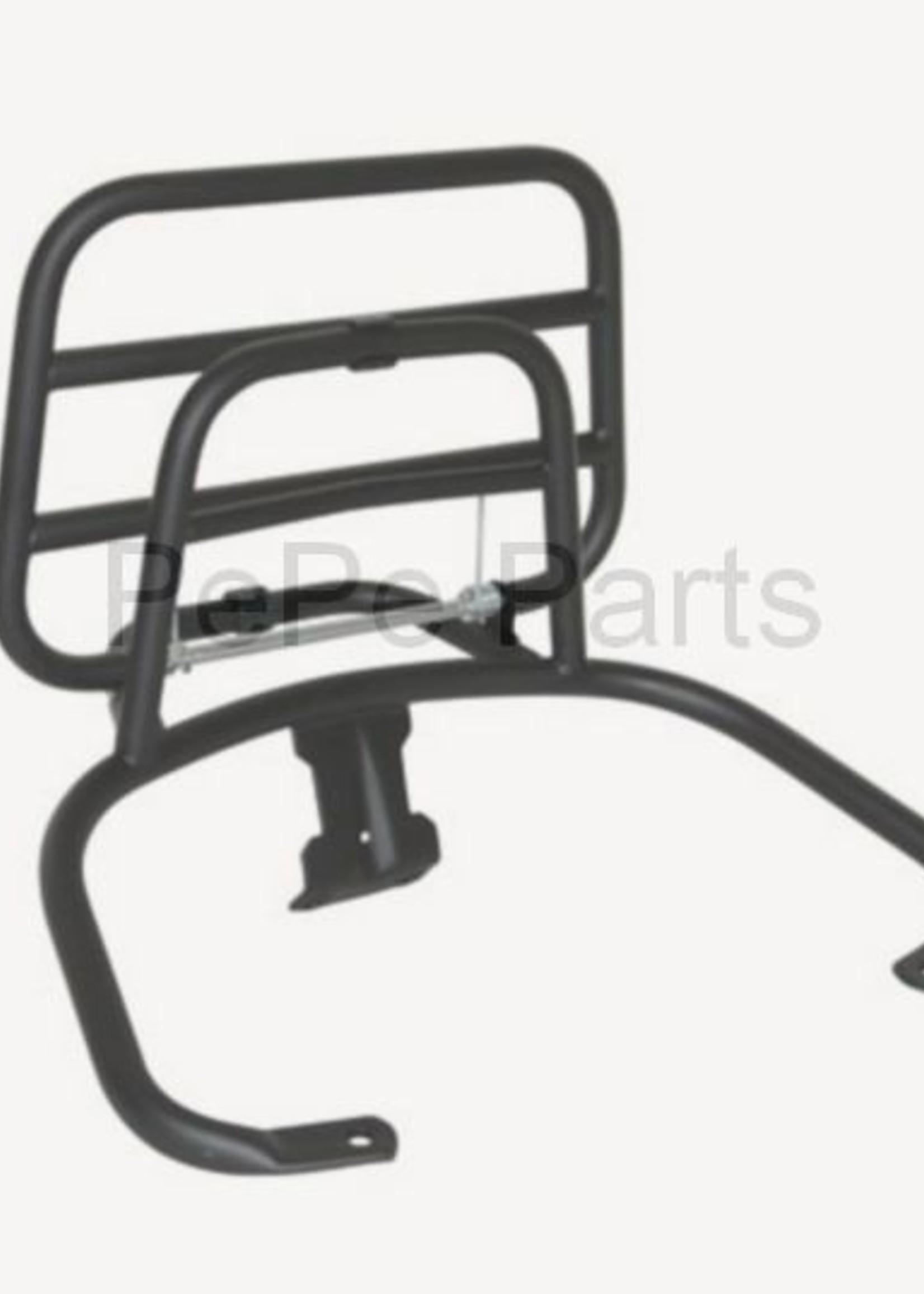 Achterdrager opklapbaar orig. kwaliteit lxv/ vespa lx/ vespa s zwart
