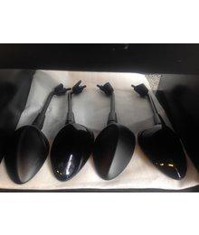 Spiegel set mat zwart Vespa Sprint L+R