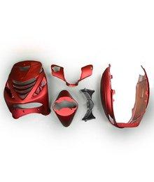 Kappenset zip 2000 mat rood met front cover van zip sp c25
