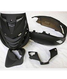 Kappenset zip 2000 front cover van zip sp c25 mat zwart 4dlg
