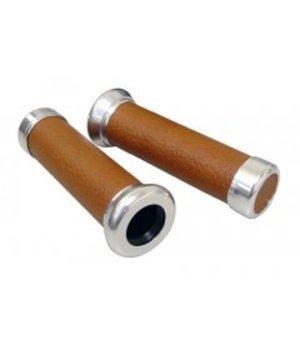 DMP Handvatten Vespa LX / LXV / S leder bruin imitatie