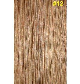 Flat-tip extensions #12 Goud/Asbruin