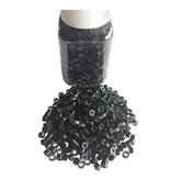 Siliconen aluminium microringen (1000 stuks)