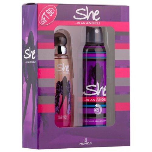 She She Giftset Eau de Toilette 50ml + Deodorant 150ml - Is An Angel
