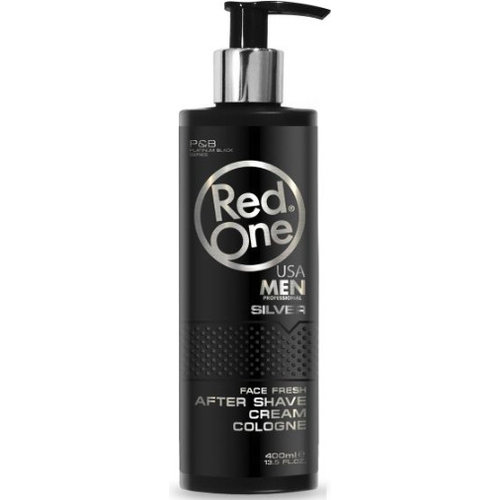 Red One  RedOne  Aftershave Cream Cologne - Silver 400ml