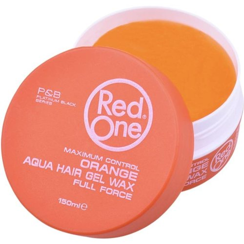 Red One  RedOne Gel Wax - Oranje Aqua Haarwax 150ml