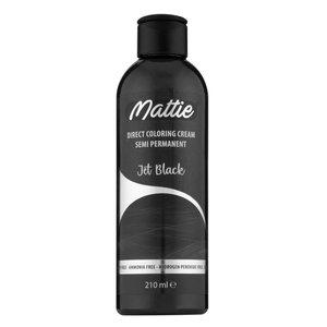 Mattie Mattie semi permanent haarverf jet black  210 ml