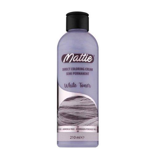 Mattie Mattie semi permanent haarverf 210 ml White Toner