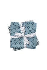 Done by Deer Done by Deer swaddle (2-pak) - Happy Dots Blauw 120x120