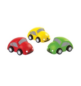 PlanToys Set 3 Houten Auto's - PlanToys