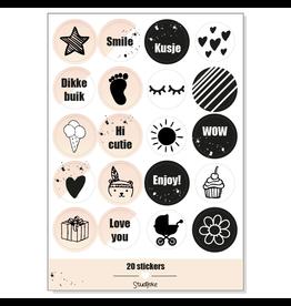 Studijoke Stickervel Baby Op Komst ROZE - Studijoke