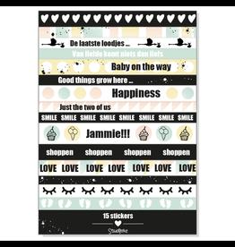 Studijoke Stickervel Baby Op Komst LANG - Studijoke
