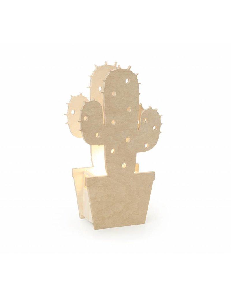 Miniwoo Houten Lamp Cactus - Miniwoo