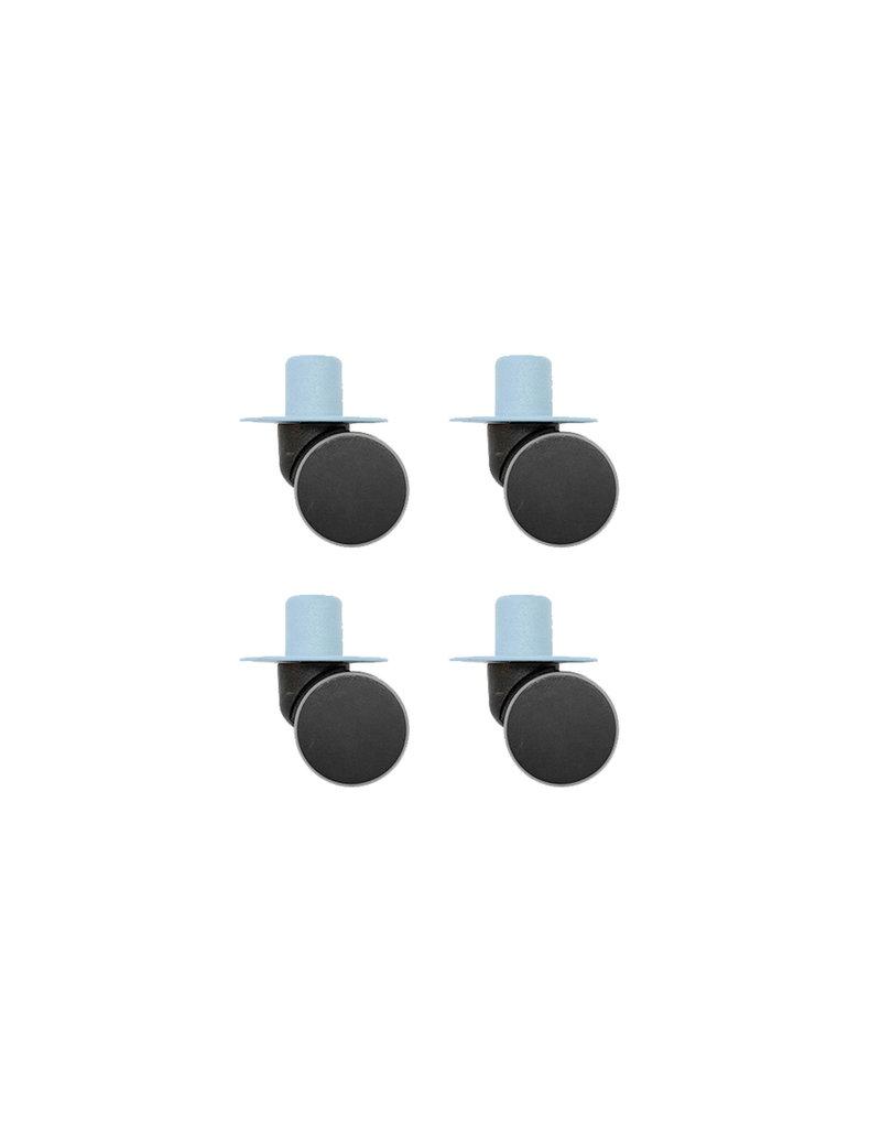 MODU MODU Zwenkwielen 4 stuks - Blauw