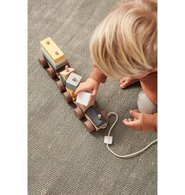 Kid's Concept Trein met blokken - Kid's Concept