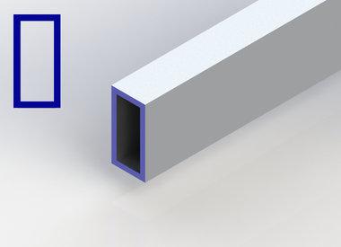 Aluminium koker rechthoek