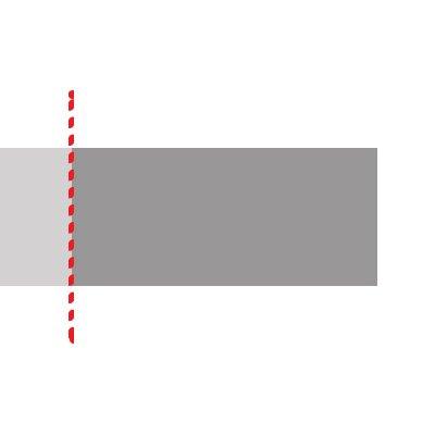 Stap 2: Kies uw zaagsnede