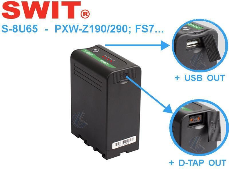 SWIT Electronics Co.,Ltd. S-8U65 Li-Ion 63 Wh Akku f. Sony PMW PXW-X PXW-Z