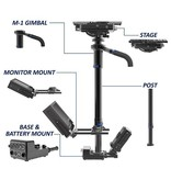 Steadicam M-1 System camera stabilizer, accessories: Fawcett Exovest, iso-elastic G-70x Arm...