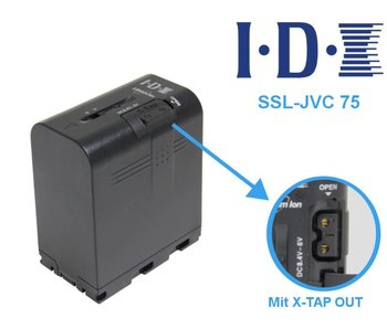 IDX SSL-JVC75 - Li-Ion Akku 7,4V 55Wh und X-TAP OUT