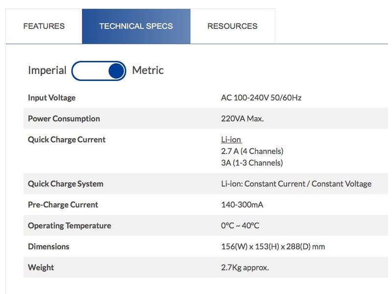 IDX  VL-4Se - Ladegerät  für zu vier ENDURA Lithium-Ionen-Akkus
