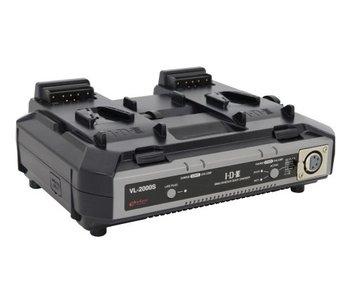 IDX VL-2000S - 2-Kanal-Simutan Ladegerät für V-Mount Akkus