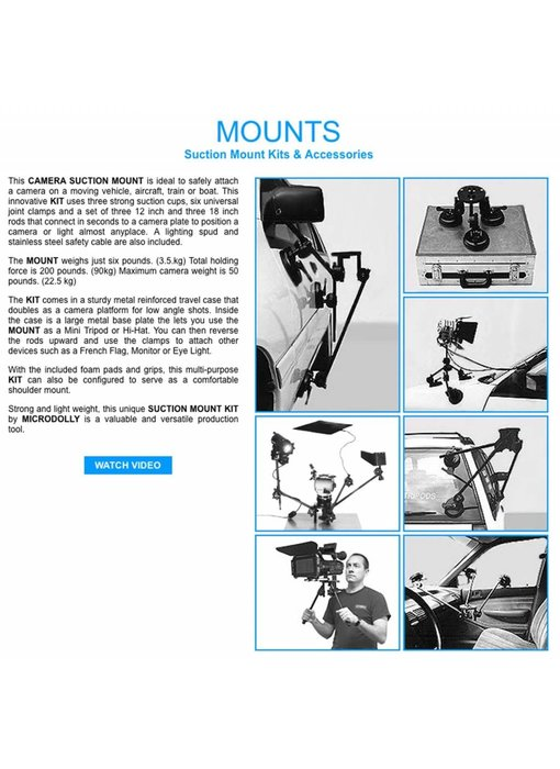 Microdolly Hollywood Auto-Saugstativ / Camera Suction Mount Kit #1487
