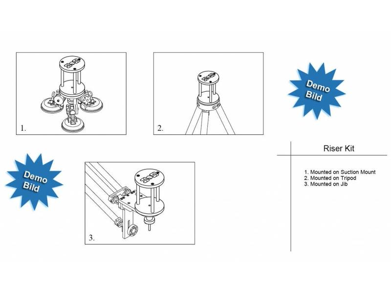 Microdolly Hollywood Cup Adapter Kit #1538 - 75mm/100mm/150mm