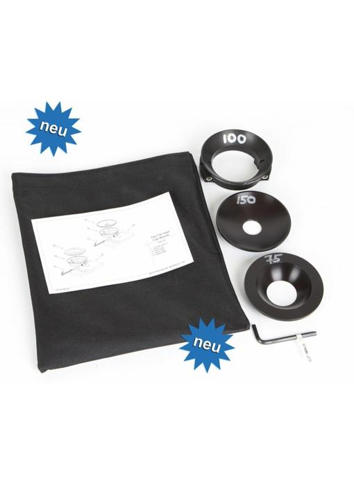 Microdolly Hollywood Cup Adapter Kit 75mm/100mm/150mm, #1538