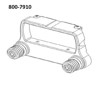 Steadicam Nose Box Rod Mount Bracket #800-7910
