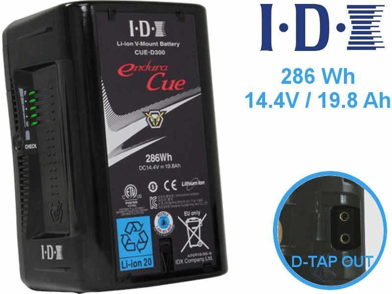 IDX CUE-D 300 Endura Li-ION 14,4V 19,8Ah 286Wh Akku mit D-TAP