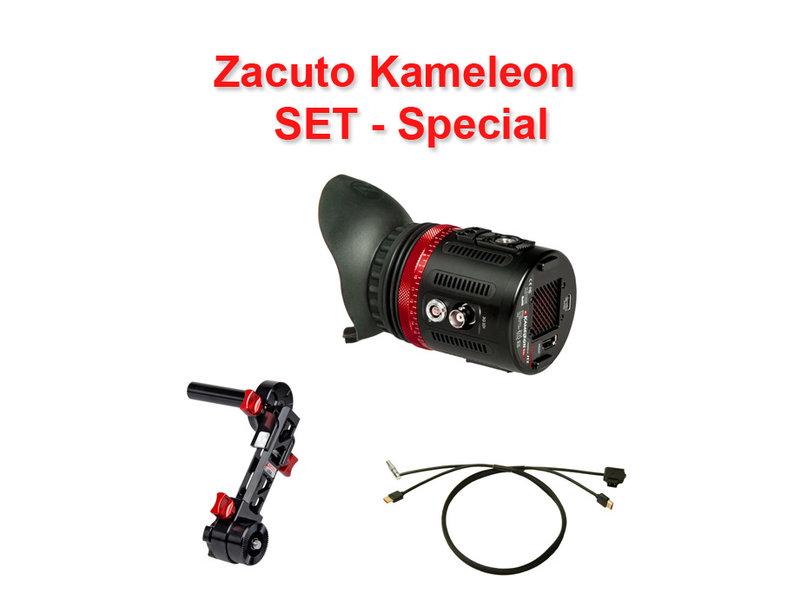 Zacuto Kameleon EVF - SET - inkl. Halterung & Kabel