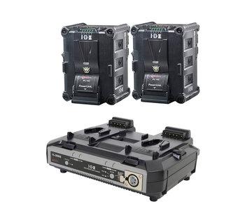 IDX IP-150/2000 - 2x IPL-150 Akku & VL-2000 Ladegerät